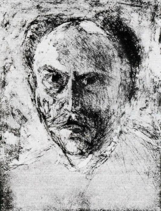Self-portrait 1 von Emile Nolde (1867-1956, Germany)