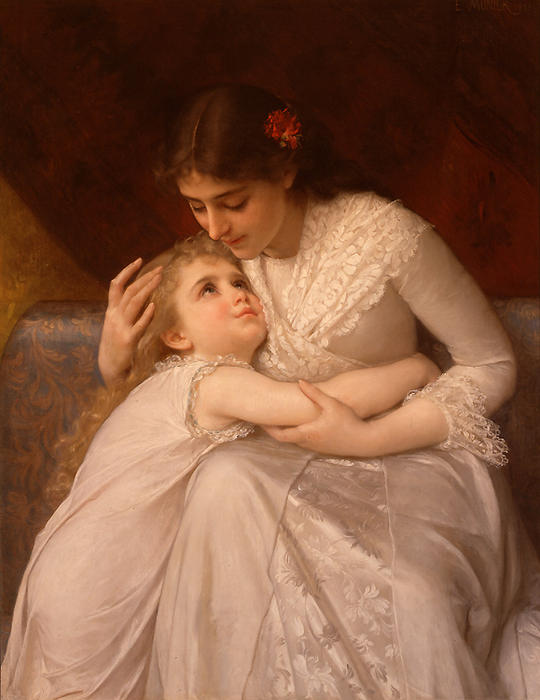 Pardon Mama von Emile Munier (1840-1895, France)