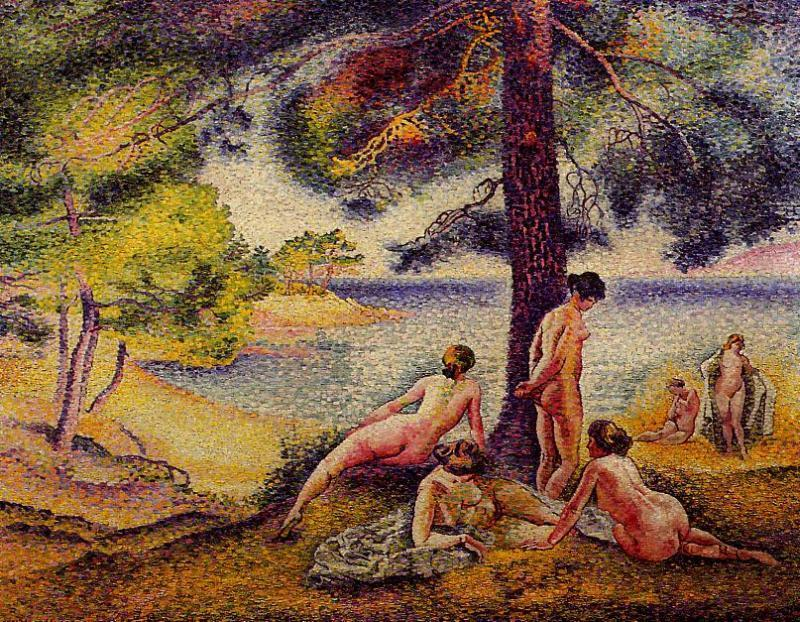 Die schattigen Strand von Henri Edmond Cross (1856-1910, France)