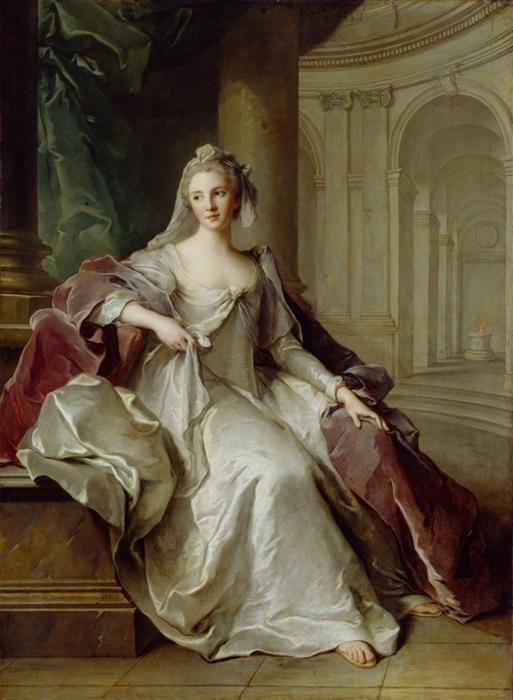 Madame Henriette de France als Vestalin von Jean-Marc Nattier (1685-1766, France)