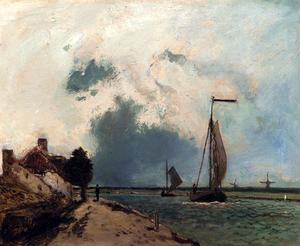 Johan Barthold Jongkind - arriving` in der port
