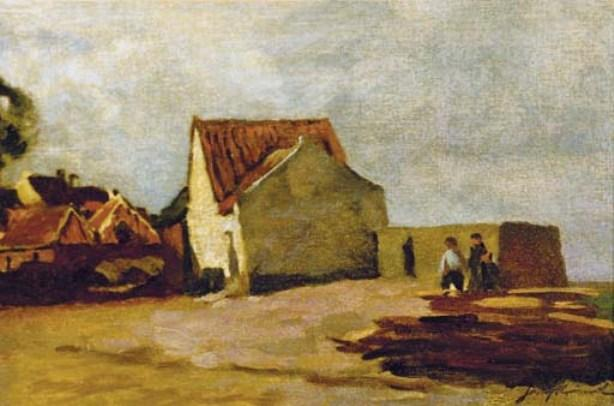 Das Seaside Cottage von Johan Barthold Jongkind (1819-1891, Netherlands)