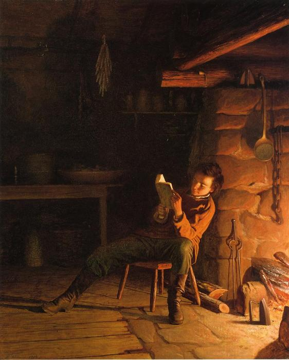 Der Knabenalter von Abraham Lincoln von Jonathan Eastman Johnson (1824-1906, United Kingdom)