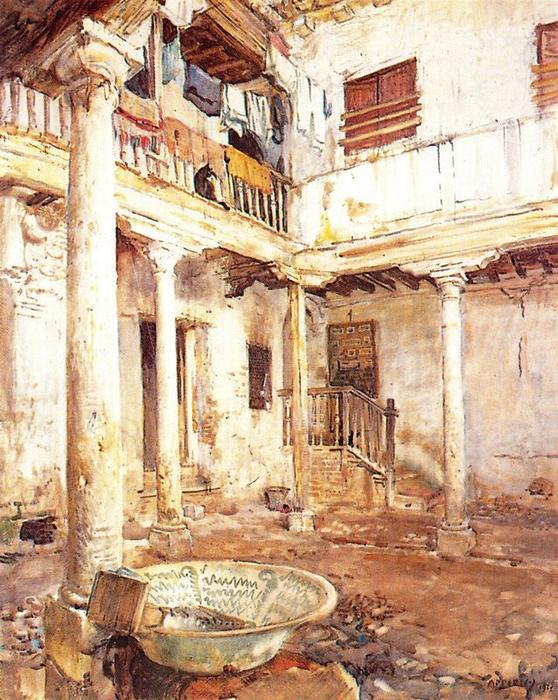 Courtyard in Albaicín von Jorge Apperley (George Owen Wynne Apperley) (1884-1960, United Kingdom)