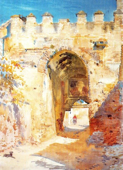 Gate of Fajalauza, Granada von Jorge Apperley (George Owen Wynne Apperley) (1884-1960, United Kingdom)