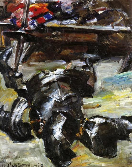 armour` in der studio von Lovis Corinth (Franz Heinrich Louis) (1858-1925, Netherlands)