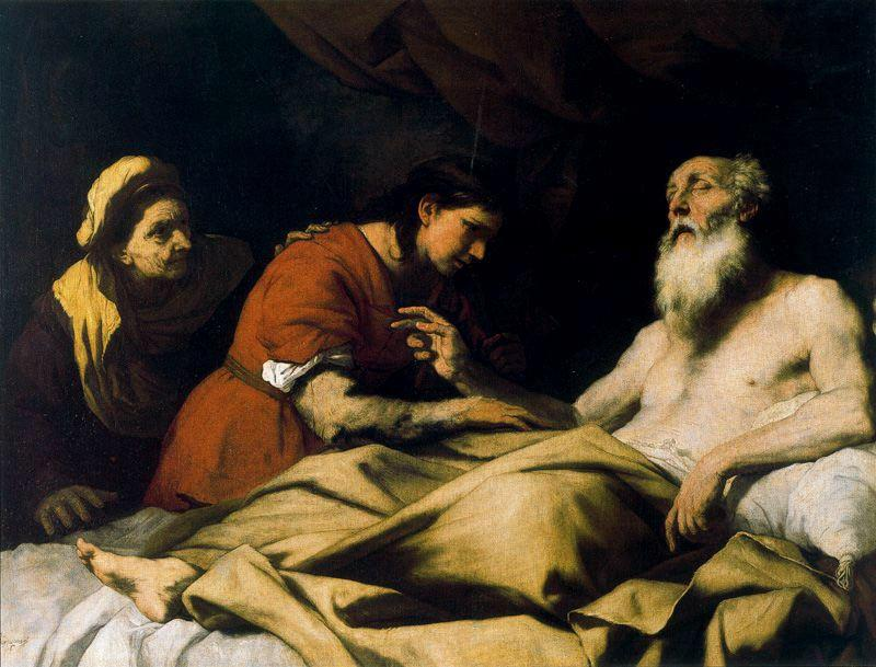 Isaac segnet Jakob 1 von Luca Giordano (1634-1705, Italy)