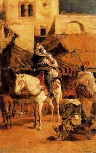 Mariano Fortuny - Arabische Reiter in Tangier