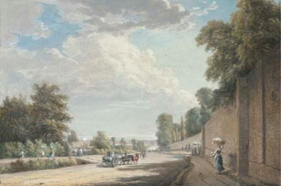 Die Bayswater Road, Paddington von Paul Sandby (1725-1809, United Kingdom) | Kunst-Wiedergabe | ArtsDot.com