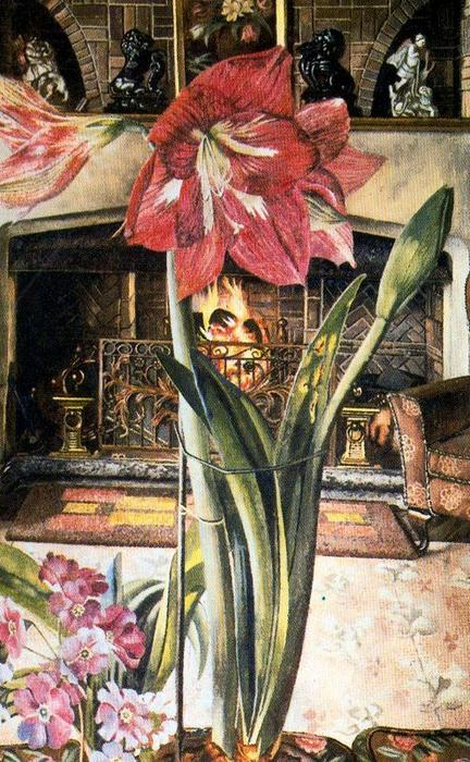 Amaryllis in Chauntry Court von Stanley Spencer (1891-1959, United Kingdom)
