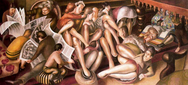 Brautjungfern zu Kana von Stanley Spencer (1891-1959, United Kingdom)