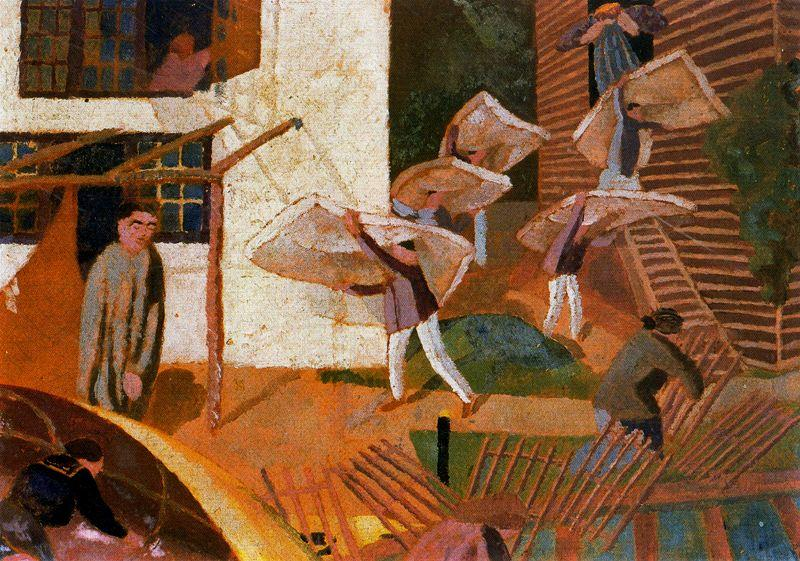 Tragen Matratzen von Stanley Spencer (1891-1959, United Kingdom)
