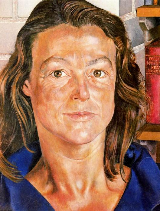 Portrait of Hilda Carline von Stanley Spencer (1891-1959, United Kingdom) | Museum Kunstreproduktionen | ArtsDot.com
