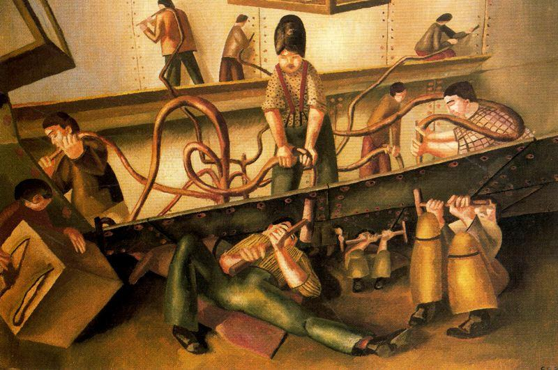 Nietmaschinen von Stanley Spencer (1891-1959, United Kingdom)