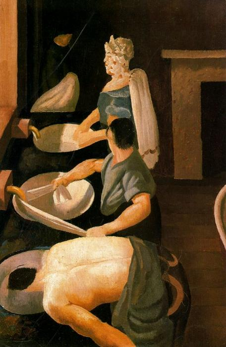 Soldiers Washing von Stanley Spencer (1891-1959, United Kingdom) | ArtsDot.com