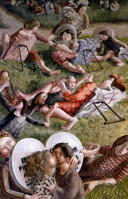 Die Auferstehung. Reunion 2 von Stanley Spencer (1891-1959, United Kingdom)