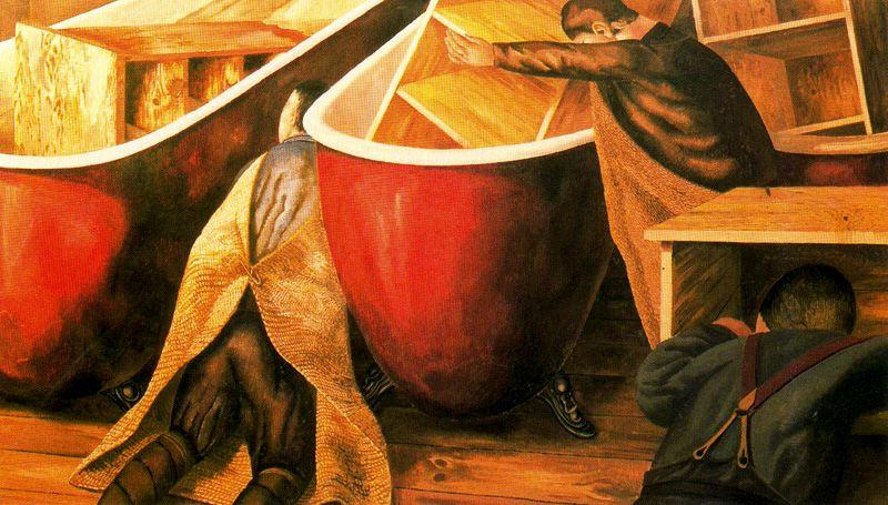 Washing Schließfächer von Stanley Spencer (1891-1959, United Kingdom)