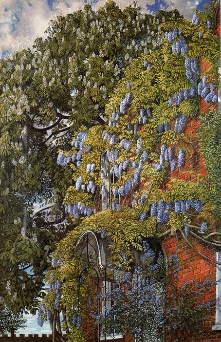 Wisteria bei Englefield von Stanley Spencer (1891-1959, United Kingdom)