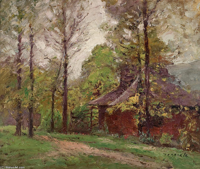 a nass tag in früh herbst von Theodore Clement Steele (1847-1926, United States)