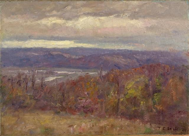 herbst abend in der Hügel ( Früh Spring-Salt creek valley ) von Theodore Clement Steele (1847-1926, United States) | ArtsDot.com