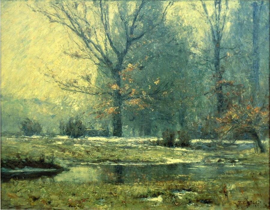 Creek im Winter, 1899 von Theodore Clement Steele (1847-1926, United States) | ArtsDot.com