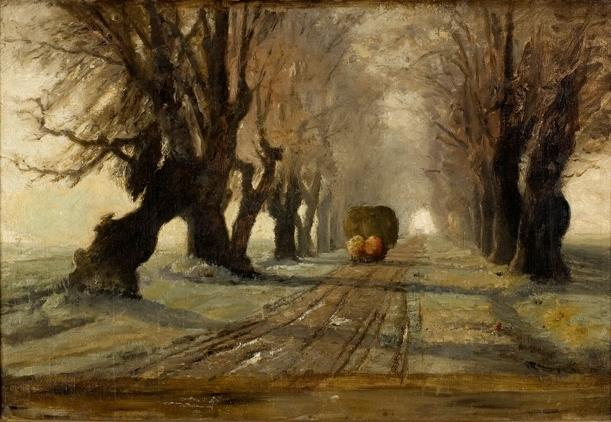 Road to Schleißheim 1 von Theodore Clement Steele (1847-1926, United States)
