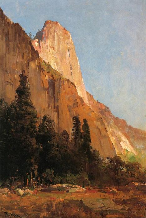 Sentinel Rock, Yosemite von Thomas Hill (1829-1908, United Kingdom)
