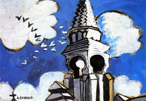 Auguste Chabaud - Kirchturmspitze