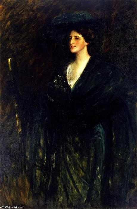The Emerald Lady, 1905 von William Merritt Chase (1849-1916, United States) | ArtsDot.com