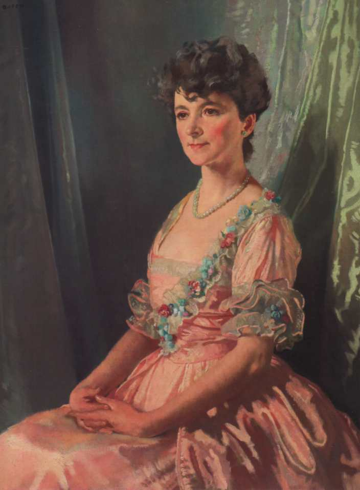 Francine JM Clark, öl auf leinwand von William Newenham Montague Orpen (1878-1931, Ireland)