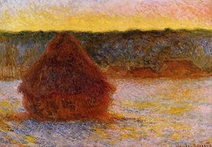 Claude Monet - Grain at Sunset im Winter