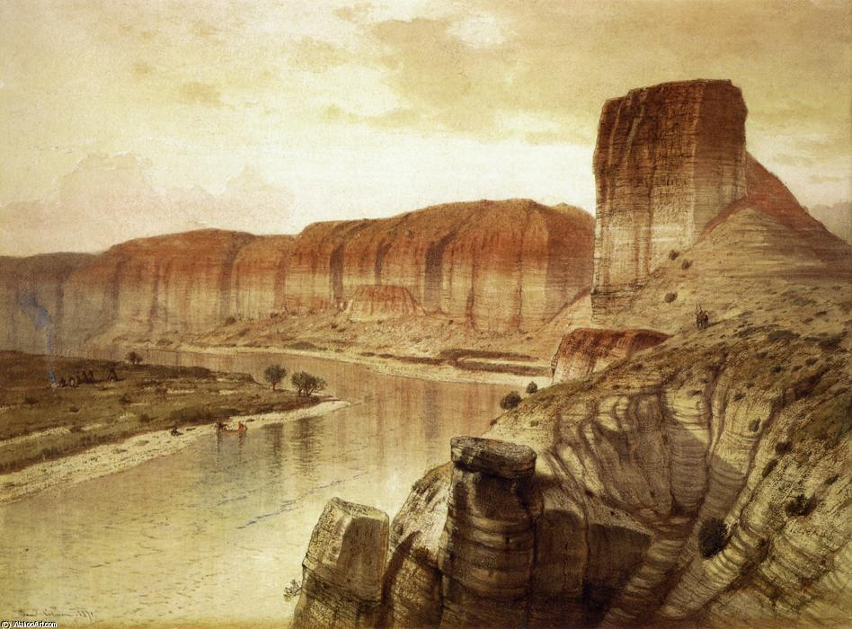 der green river , Wyoming, Aquarell von Samuel Colman (1832-1920, United Kingdom)