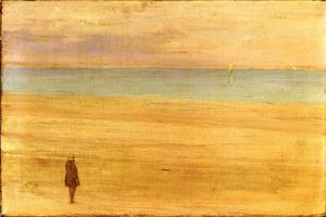 James Abbott Mcneill Whistler - harmonie in blau und silber : Trouville