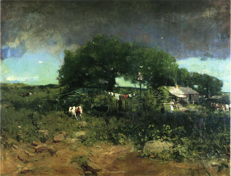 Homesteading in Tennessee, öl auf leinwand von William Gilbert Gaul (1855-1919, United States)