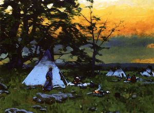 William Gilbert Gaul - Indian Encampment, Montana