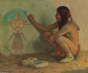 Eanger Irving Couse - Die Kachina Painter