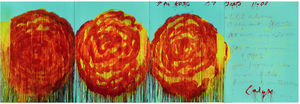 Cy Twombly - Die Rose ICH ICH
