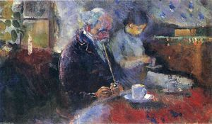 Edvard Munch - Am Kaffeetisch