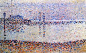 Georges Pierre Seurat - Studieren für -The Kanal bei gravelines , Evening-