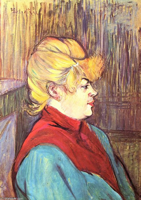 Woman Bordell, öl von Henri De Toulouse Lautrec (1864-1901, France)