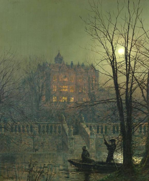 Unter den Moonbeams von John Atkinson Grimshaw (1836-1893, United Kingdom)