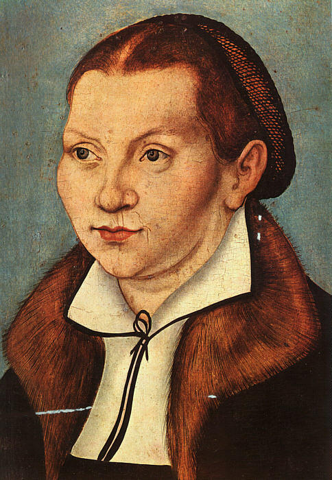 Katharina Luther, öl auf leinwand von Lucas Cranach The Elder (1472-1553, Germany)