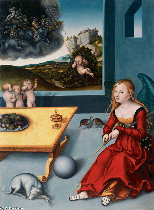 Melancholie, öl von Lucas Cranach The Elder (1472-1553, Germany)