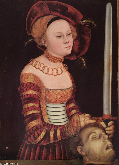Judith, öl von Lucas Cranach The Elder (1472-1553, Germany)