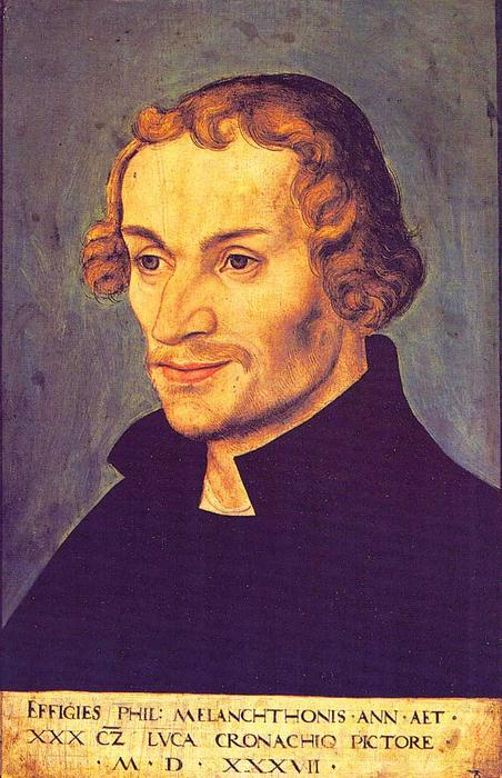 Philipp Melanchthon, 1537 von Lucas Cranach The Elder (1472-1553, Germany)