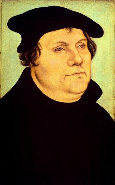 Martin Luther von Lucas Cranach The Elder (1472-1553, Germany)