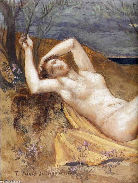 Tamaris (Detail) von Pierre Puvis De Chavannes (1824-1898, France)