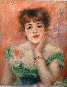 Pierre-Auguste Renoir - jeanne samary in ein low necked Kleid