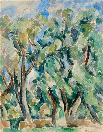 Willows, 1919 von Pyotr Konchalovsky (1876-1956, Russia)