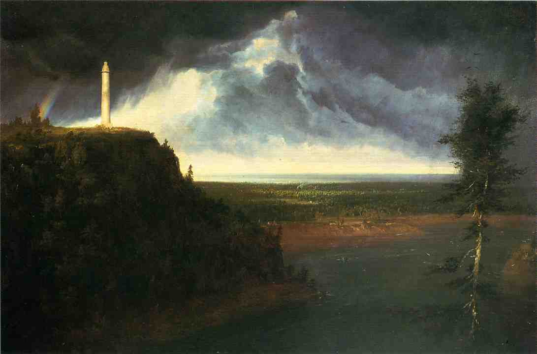 Brock`s-Monument, öl an segeltuch von Thomas Cole (1801-1848, United Kingdom)